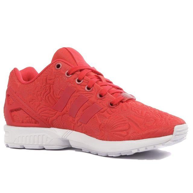 Adidas - ZX Flux Femme Chaussures Rouge Multicouleur 38 2/3 ...