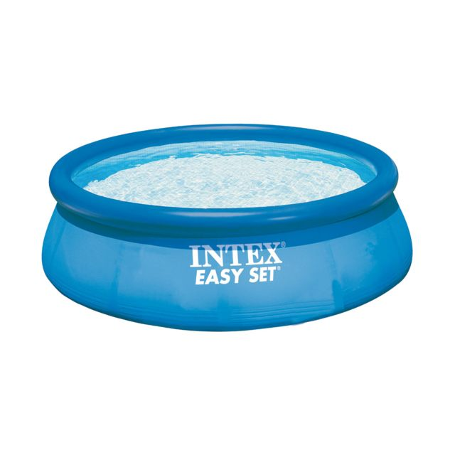Intex piscine autoport e easy set 2 44 x 0 76 m bleu for Piscine autoportante easy set