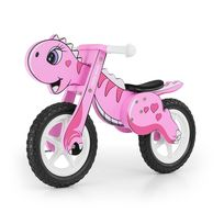 Milly Mally - Vélo / Draisienne enfant 3-6 ans en bois Dino | Rose