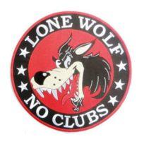 Universel - Gros patch lone wolf 24cm no clubs ecusson dos veste blouson