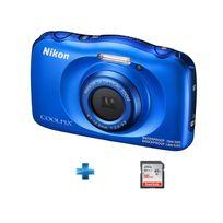 NIKON - Pack Débutant W100 Bleu + Carte SD 16Go
