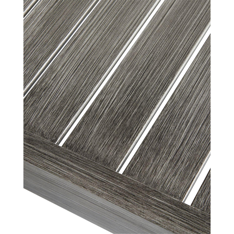 CARREFOUR - Table HONFLEUR - Aluminium - Gris 160cm x 75cm x 100cm ...