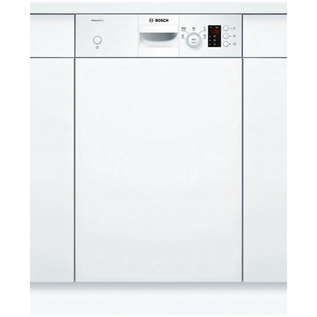 Bosch lave-vaisselle 45cm 9c 46db a+ intégrable avec bandeau blanc - spi25cw03e