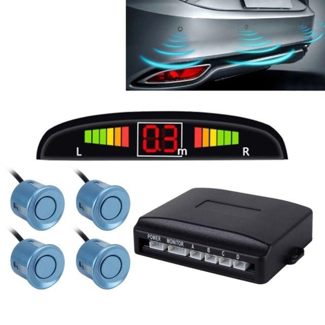 wewoo radar de recul bleu syst me de de invers de voiture buzzer premium quality 4 capteurs. Black Bedroom Furniture Sets. Home Design Ideas