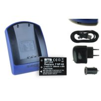 mtb more energy® - Batterie + Chargeur USB, Np-60 Np60 pour Traveler Dc-6300, Dv-5000, Dv-5000HD