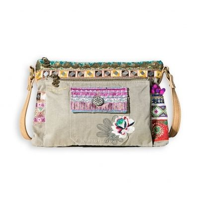 Desigual Sac Toulouse Military Deluxe xt Vert pas cher