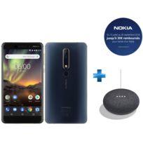 NOKIA - 6.1 - Bleu + Enceinte intelligente Google Home mini - Charbon