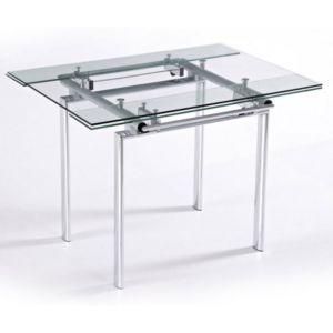 Beaux meubles pas chers table haute de cuisine carr e for Table haute plateau verre