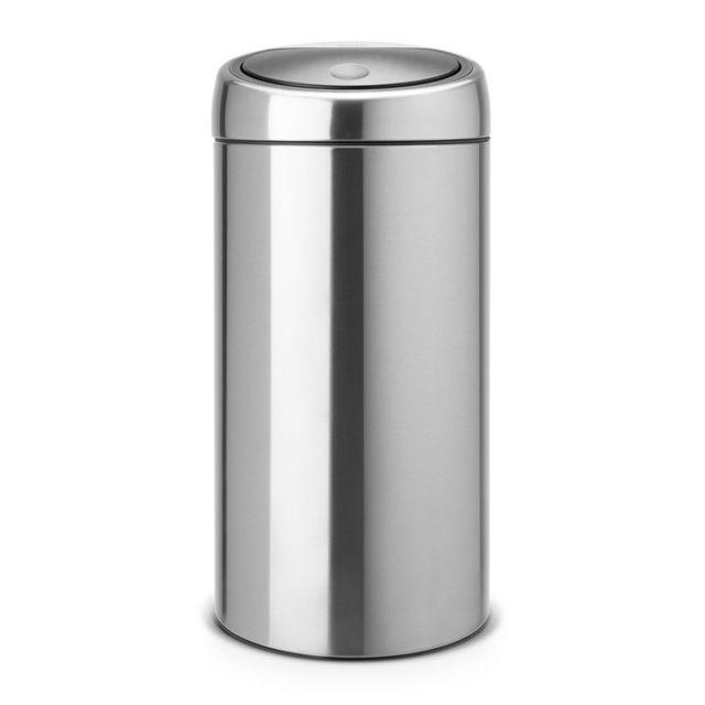 Brabantia Poubelle Twin Bin, 2x20 litres - Matt Steel Fingerprint Proof