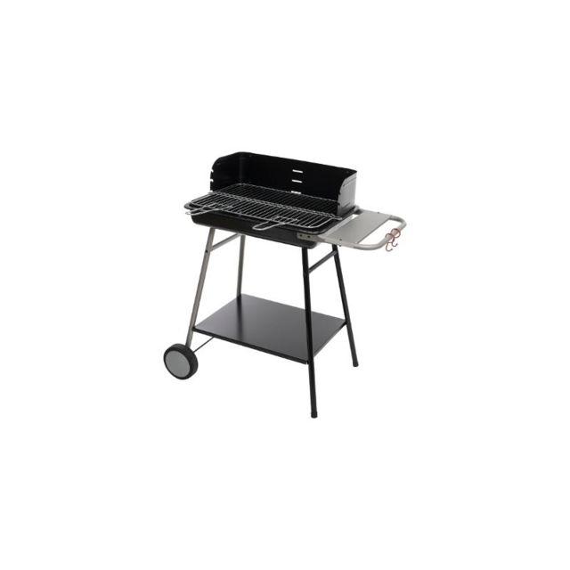 Barbecue à charbon Azur L. 53 x l. 38 cm Noir Noir