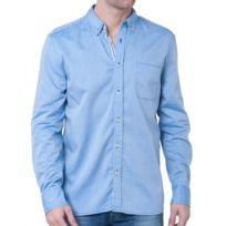 Mustang - Chemise bleue homme boutonnée