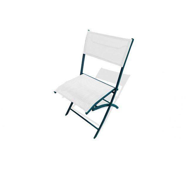 Dcb Garden Chaise pliante anthracite et blanc