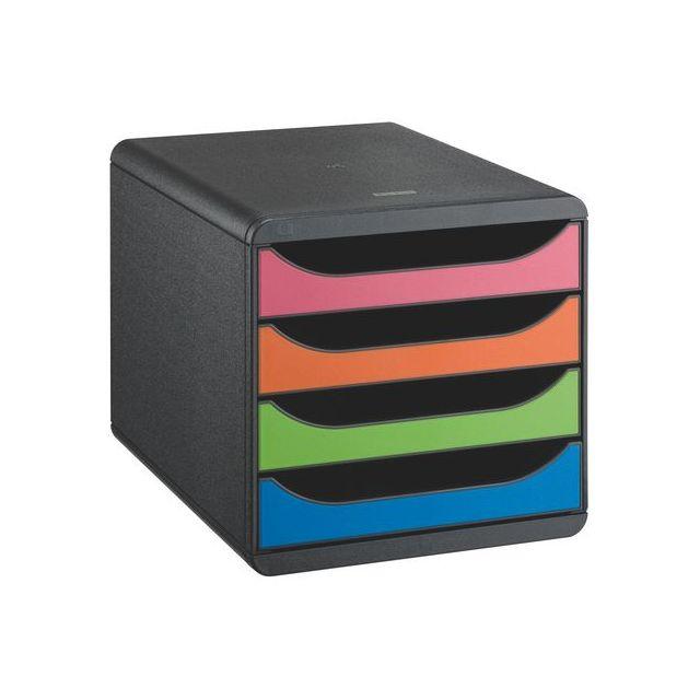 exacompta module de classement big box 4 tiroirs multicolores pas cher achat vente bo tes. Black Bedroom Furniture Sets. Home Design Ideas