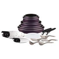 TEFAL - INGENIO ESSENTIAL - Set de cuisine 20 pièces - Cassis - L2029702