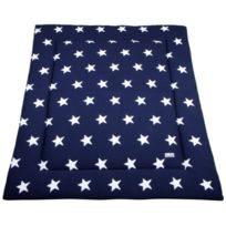 Baby's Only - Tapis De Parc 85X100, Collection Star - Marine Blanc