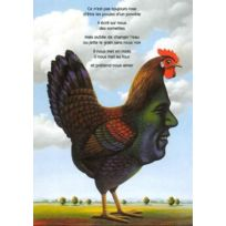 Motus - cartes postales couleurs ; mes poules parlent