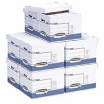 Bankers box - Pack 30 boîtes archives dos 10 cm + 10 caisses bleues