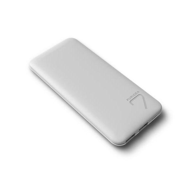 PURIDEA - Powerbank 6600 mAh - Grey / White