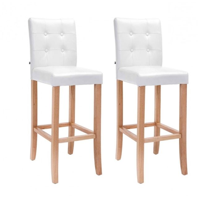 decoshop26 lot de 2 tabourets de bar capitonn en simili. Black Bedroom Furniture Sets. Home Design Ideas