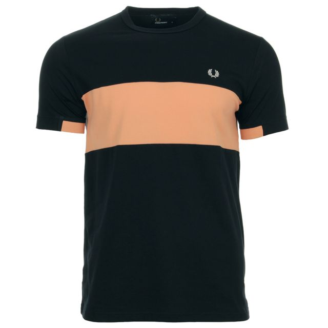 d5a21584d13 Fred Perry - Chest Panel Tee Shirt Navy - pas cher Achat   Vente ...
