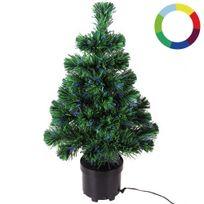 Rocambolesk - Superbe Sapin de Noël avec jeu de couleur - 9 effets d'éclairage différents neuf
