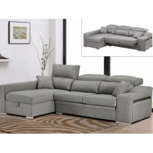 marque generique canap d 39 angle en tissu lusali avec assise coulissante gris clair angle. Black Bedroom Furniture Sets. Home Design Ideas