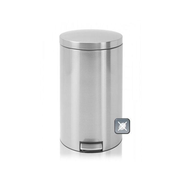 Brabantia Poubelle à pédale, 45 litres, MotionControl - Matt Steel Fingerprint Proof