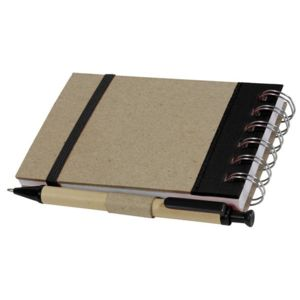 eco-bureau - Bloc-note + stylo recyclé - noir