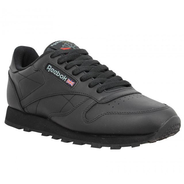 348ba793c80af Reebok - Classic cuir Homme-40-Noir - pas cher Achat   Vente Baskets homme  - RueDuCommerce