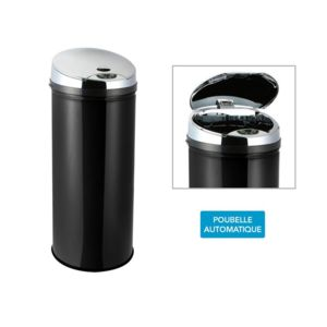 FRANDIS - Poubelle Automatique noir Sensor - 45L