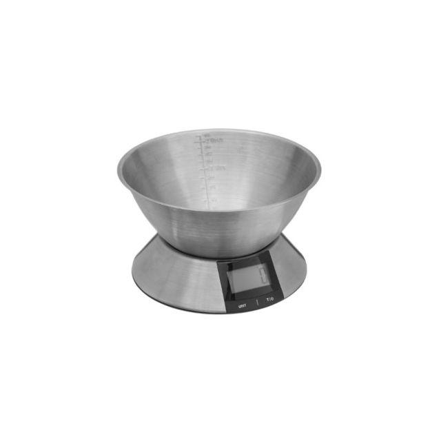Balance digitale avec bol - 23,4 x 14 cm - Inox