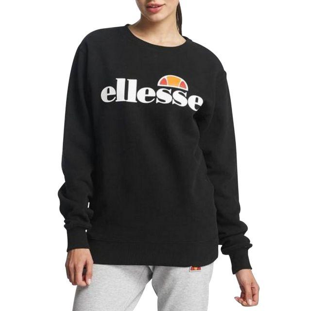 Ellesse Sweatshirt Eh F Sws Col Rond Noir pas cher Achat