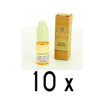 Pulp - Lot 10 e-liquides Vanille Extreme 18mg soit 4,90 euros le flacon 10ml