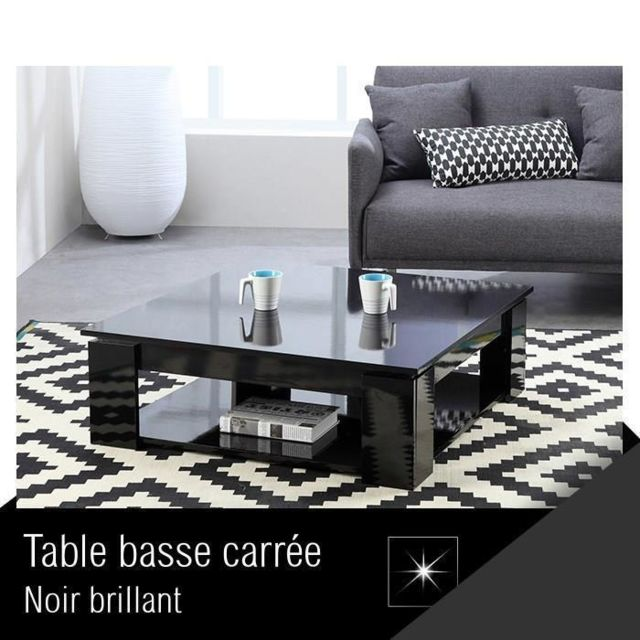 Basse Noir Shop Ze Table Carrée Brillant Cher Pas Manhattan l1TFJ3Kc