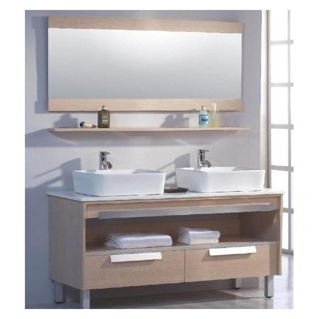 Milano - Meuble salle de bain contemporain 140x50x85