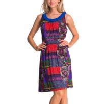 Desigual - Tres Robe Femme - Taille L - Multicolore