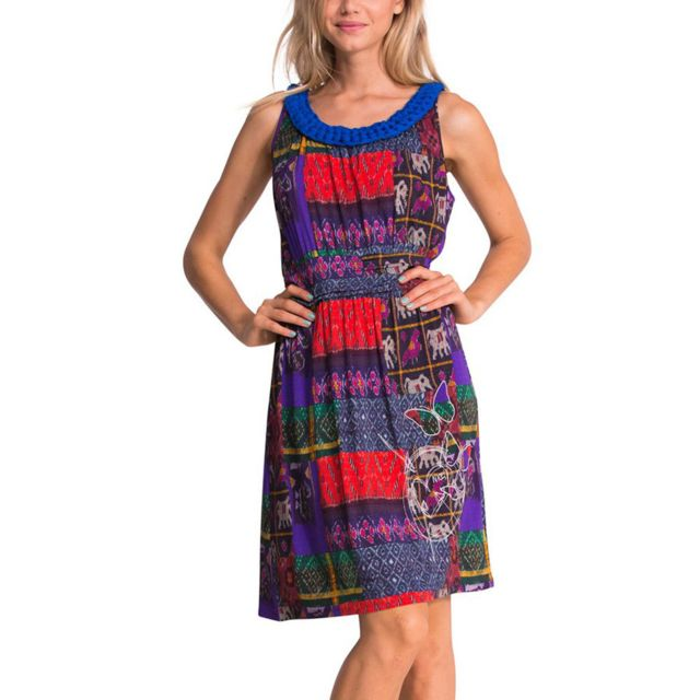 Desigual - Tres Robe Femme - Taille L - Multicolore - pas cher Achat ... 68968988ba83