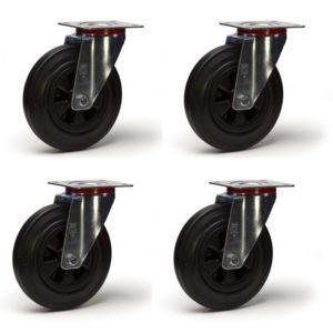 roues et roulettes com lot de quatre roulettes pivotantes caou pas cher achat vente levage. Black Bedroom Furniture Sets. Home Design Ideas