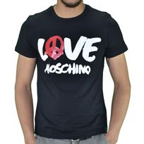 Moschino - Love - T Shirt Manches Courtes - Homme - Painted Logo - Noir