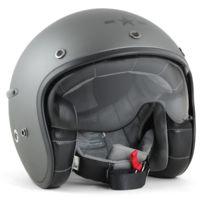 Harisson - casque jet moto scooter fibre gris mat - Ca127