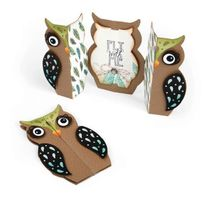 Sizzix - Matrice de découpe Thinlits Set 6 pieces - Carte Hibou par Jen Long