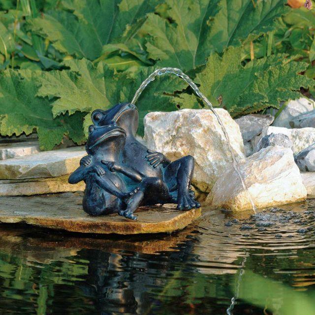 Aqua Arte Deux Grenouilles Pour Décoration De Bassin De Jardin