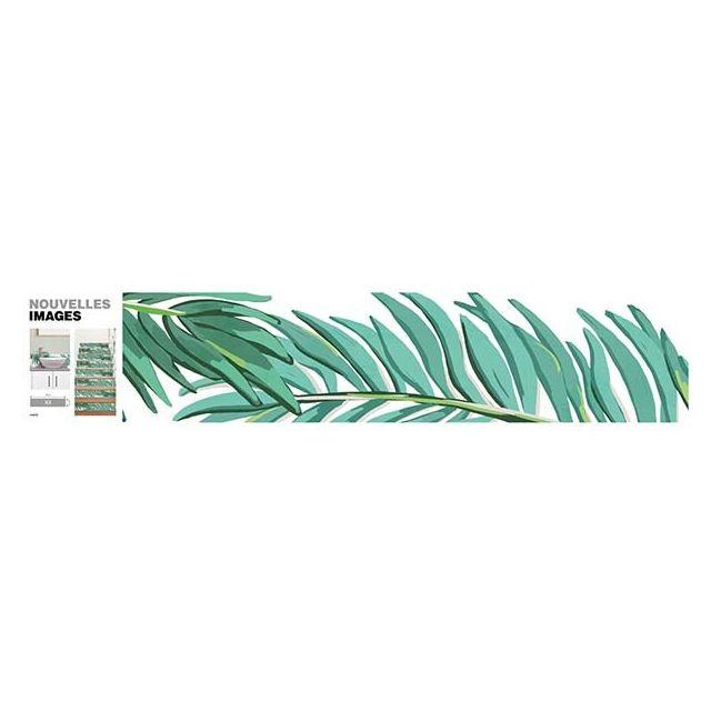 Nouvelles Images - 3 bandes adhésives Branches de palmiers Vert