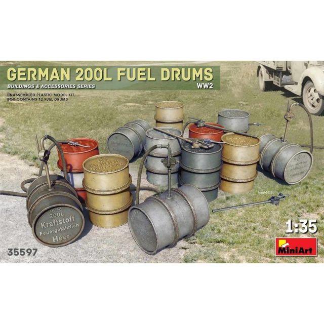 Mini Art German 200l Fuel Drums Ww2 - Décor Modélisme