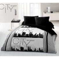 Home Deco - Parure de couette 220 X 240 microfibre City