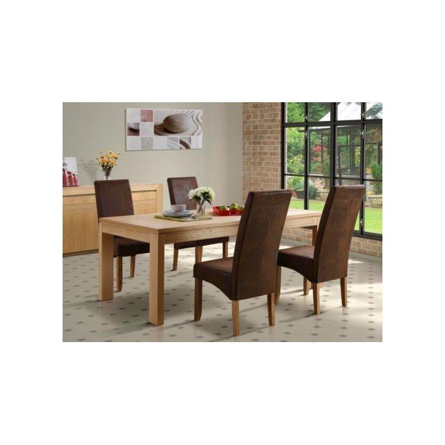 MARQUE GENERIQUE Table à manger SYMPHONIE - 8 couverts - Chêne huilé