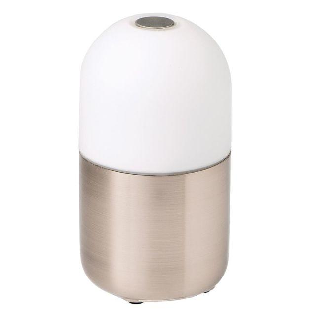 Smooz Lampe Led de table Bean en acier brossé 4505601