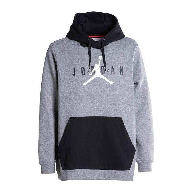 promo code e47ee 73fec Jordan - sweat à capuche Jordan Air Fleece Po Gris pour homme taille - Xl