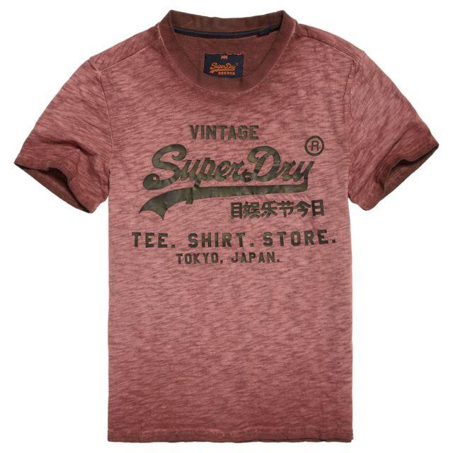 Superdry - Shirt Shop Overdyed T-shirt Mc Homme - Taille M - Rouge - pas  cher Achat   Vente Tee shirt homme - RueDuCommerce ec275b83e30a