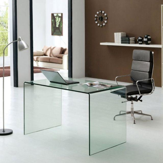 Meubler Design Table de bureau en verre
